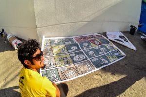 Quadrinhos invadem os muros de Fortaleza