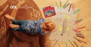 """GOL e Faber-Castell se unem na ação """"Colorindo o Dia"""" para motivar pais e filhos a viajarem sem sair de casa"""