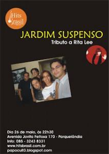 JARDIM SUSPENSO ESTREIA COM TRIBUTO A RITA LEE