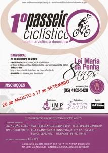Passeio ciclístico comemora 8 anos da Lei Maria da Penha