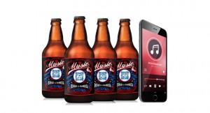 Criado o primeiro álbum de música do mundo que pode ser ouvido em garrafa de cerveja