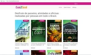 Plataforma online oferece atividades, passeios e oficinas para turistas em todo o Brasil