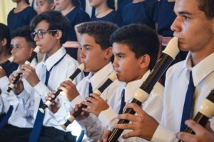 Orquestras formadas por crianças e jovens da Fundação Raimundo Fagner apresentam recitais
