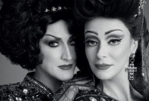 Paulo Gustavo e Mônica Martelli posam para a Vogue de janeiro incorporando Drag Queens