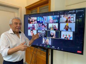 Mauricio de Sousa comemora seus 85 anos com a família reunida virtualmente