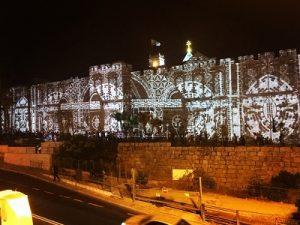 Noite de vídeo mapping no Benfica